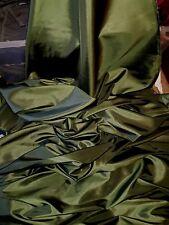 "5M green COLOURED  TAFFETA  FABRIC 58"" WIDE"
