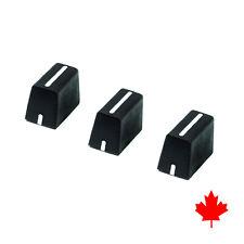 Set of 3x Black Fader Cap Knobs RANE TTM 72 57 62 56 56S mk2 57SL 62 61 52 54