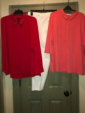 Nwt- 3 Piece Lot - 24W Pants, Two 3X Shirts - Ruby Rd, Investments, Peter Nygard