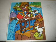 VINTAGE PLAYSKOOL Wooden Tray Jigsaw Puzzle 1986 Launchpad Leads the Way Donald