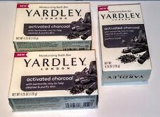 Lot of (3) Yardley London Activated Charcoal Soap 4.25 oz 3 bars