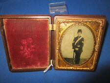 Original U.S. Civil War 1/4 Plate Ambrotype Photo ID'ed to Robert Jones Burdette