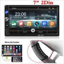 """New listing 7"""" Car Stereo Radio Mp5 Player Bluetooth In-Dash Fm Usb Mirror Link 2 Din + Swr"""