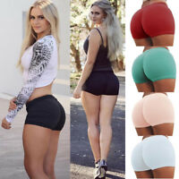 Summer Pants Women's Sports Shorts Gym Workout Waistband Skinny Yoga Short Pants
