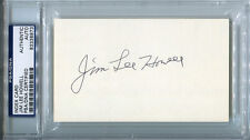 Jim Lee Howell Signed Index Card 3x5 Autographed Giants PSA/DNA #83338973