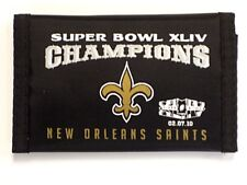 New Orleans Saints NFL Super Bowl XLIV Champions Nylon Wallet Black