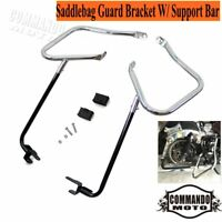 Saddlebag Bracket Engine Crash Guard Kit Bar For Harley Touring 14Up FLHX FLHR