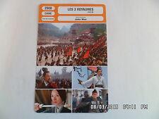 CARTE FICHE CINEMA 2008 LES 3 ROYAUMES Tony Leung Takeshi Kaneshiro Zang Fengyi