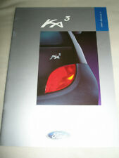 Ford Ka 3 range brochure 1997 Ed 1