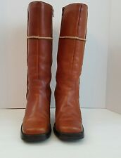 Womens Leather Boots Seychelles Retro Vintage Caramel Size 10 Free Shipping