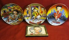 Lot of 3 Vintage 1993 Betty Boop Limited Edition Danbury Mint Plates w Hangers