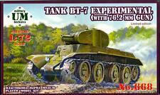 UM-MT Models 1/72 Soviet BT-7 LIGHT TANK with 76.2mm GUN