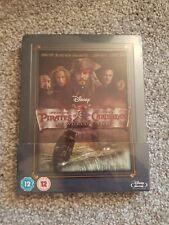 Disney Pirates of the Caribbean: At World's End Zavvi UK Bluray Steelbook. NEW.