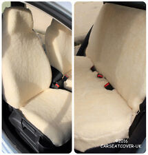 Full Set of Furry Sheepskin Car Seat Covers - Fits Most Cars
