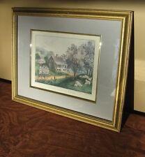 Homestead Print Currier & Ives Framed Print American Homestead Spring
