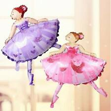 Large Pink/Purple Ballet Dancing Girl Ballerina Foil Helium Air Balloon