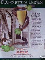 PUBLICITÉ 2002 BLANQUETTE DE LIMOUX LE BRUT ORIGINEL - ADVERTISING