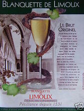 PUBLICITÉ 2002 BLANQUETTE DE LIMOUX LE BRUT ORIGINEL - ADVERTISING