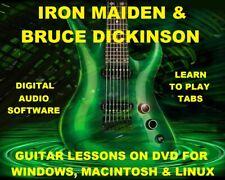 Iron Maiden Guitar TAB Lesson CD 844 TABS 113 BTs + MEGA BONUS Bruce Dickinson
