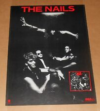 The Nails Poster 1984 Promo 28x20 Marc Campell The Ravers Dead Kennedys