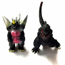 2 x Large Bandai Godzilla Action Figures Kids Boy Display Figurines Play Set Toy