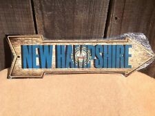 """New Hampshire State Flag This Way To Arrow Sign Novelty Metal 17"""" x 5"""""""
