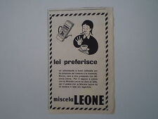 advertising Pubblicità 1955 MISCELA LEONE