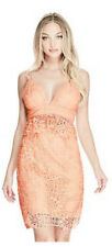 *$128 Guess Vienna Solstice Sexy Floral Lace Dress Tropical Peach Size 4