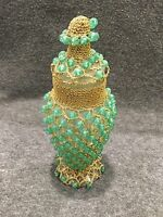 Beaded Vase/Urn with Lid Unique
