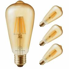 4 Pack Led Filament Bulbs Retro Vintage Edison Style ST64 Dimmable 4W Warm