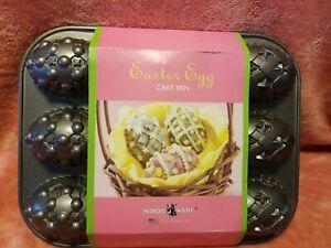 Nordic Ware Easter Egg Baking Mold Muffin Mini Cake Cast Aluminum Pan USA New