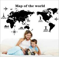 Wall Art Decal Vinyl Sticker Removable Home Decor Map of the World PVC DIY Gift