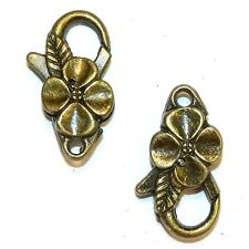 ML950L Antiqued Bronze Large 25mm Flower Design Lobster Claw Focal Clasp 10pc