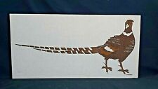 Vintage Marushka Pheasant Screen Print on Fabric, Stretched on Frame