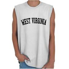 West Virginia State Shirt Athletic Wear USA T Novelty Gift Ideas Sleeveless Tee
