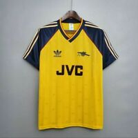 "Arsenal Retro Football Shirt 80s Vintage 1989 Champions Retro Yellow ""JVC"""