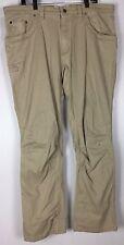 mens mountain khaki pants 40x33 tagged 42x34 cotton Blend