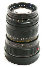 Leica 90mm f/2.8 Tele Elmarit-M lens black EXC #36901