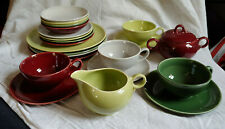 VTG Universal Potteries Oven Proof Dishes Bowls Breads Cups Svc of 4 in 4 Colors