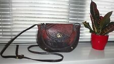 TOPSHOP VINTAGE BROWN LEATHER  CROSSBODY SHOULDER BAG