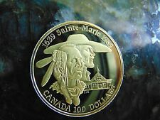 "1989 $100 Canadian Mint Coin 1/4 Solid Gold 7.777 Grams AGW ""Sainte Marie"""