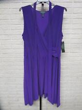 NEW Ralph Lauren womens DRESS sleeveless PURPLE stretch 2X NWT $145 wrap #A108
