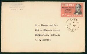 Mayfairstamps Liberia Ganta to Springfield IL Stephen Benson Cover wwp_58259