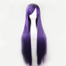 "39"" Long Straight Synthetic Hair Full Wig For Cosplay Party Halloween Christmas"