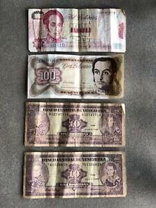 Venezuelan Bolivares Circulated Currency 1,120.00 Venezuelan Dollars