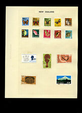 New Zealand Album Page Of Stamps #V5250