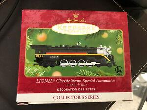 NEW NIB Hallmark Keepsake Ornament Lionel Chessie Steam Special Locomotive 2001