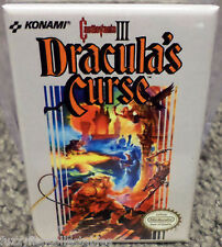 "Castlevania 3 Dracula Nintendo NES Vintage Game Box  2""x3"" Fridge Locker MAGNET"