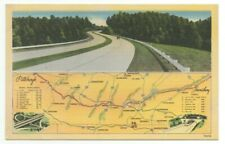 c1940 Pennsylvania Turnpike Map Shows Section of Divided Highway