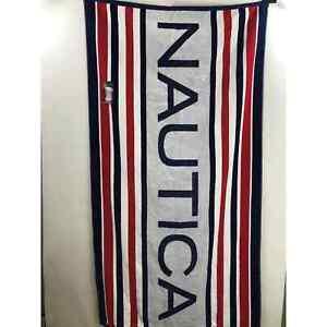 Nautica red white blue Beach Pool Towel New